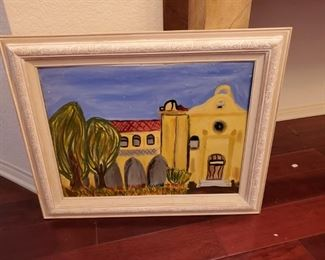 Oil Painting of a Mission