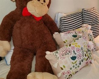 SUPER BIG MONKEY with Anthropologie like Pillows!