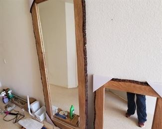 LOVE these..Tree trunk mirrors-never hung!
