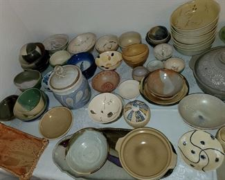 MOST POTTERY PIECES SIGNED BY NAOMI-LOTS OF JAPANESE BUT ALL SIGNED!