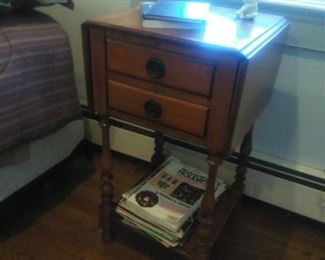 vintage drop leaf nightstand