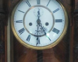 Gustav Becker wall clock detail