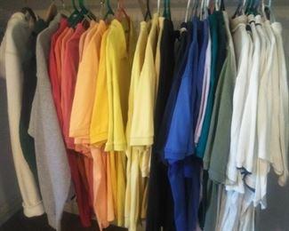 Closet of Mens designer polo shirts