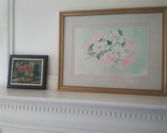 Watercolor floral and small floral oil painting