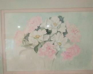 Floral large watercolor