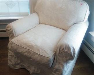 Domain slip covered boudoir chair