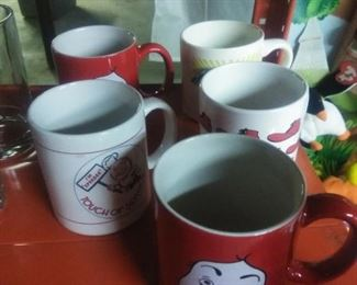 Ronald McDonald and Speedy coffee mugs