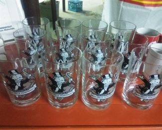 Monopoly game Uncle Pennybags promotion glass for McDonald's