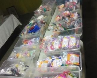 Thousands of McDonald's happy meal toys
