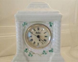 Beleek porcelain clock
