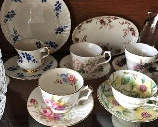 Cup and saucer collection.