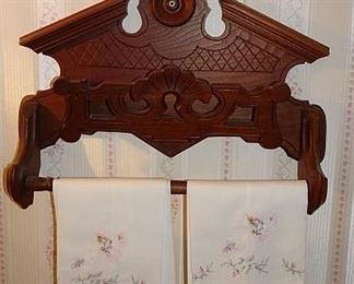 Walnut Victorian Towel Rack