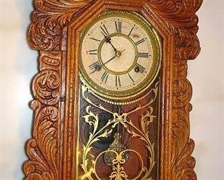 Oak Gingerbread Kitchen Clock