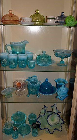 Opalescent & Fenton Glass