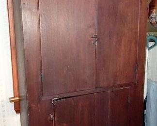 Country Walnut Blind Door Cupboard