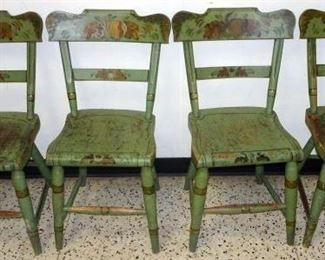 Set Of Decorated Country Cottage Chairs