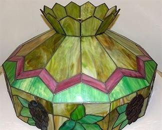 Art Glass-Slag Glass Hanging Lamp