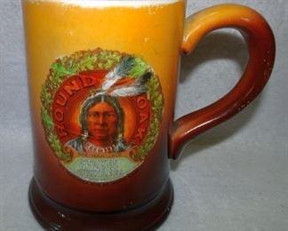 Round Oak Stoves & Ranges Advertising Mug W/ Indian