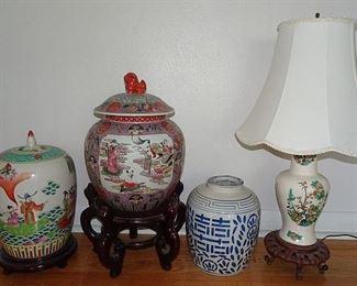 Oriental Ginger Jars, Lamp