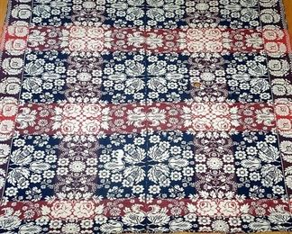 Loom Made Coverlet