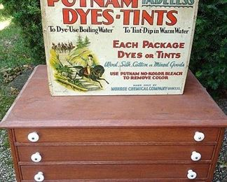 4 Drawer Oak Spool Cabinet, Putnam Dye Cabinet