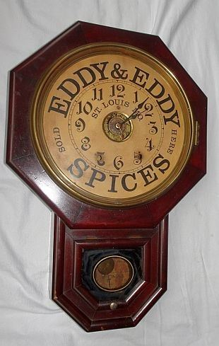 Eddy & Eddy Spices, St. Louis Advertising Wall Clock