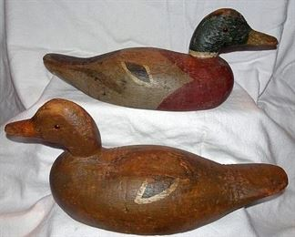 Collection Of Wooden Duck Decoys