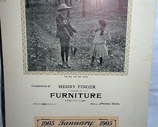 Henry Finger 1905 Advertising Calendar, Marissa, Illinois