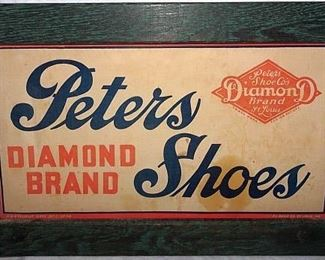 Peters Diamond Brand Shoes Advertising Sign