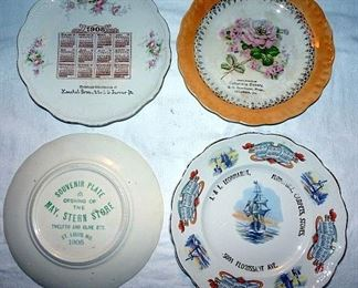 Advertising & Calendar Plates From St. Louis, MO, Columbia, IL