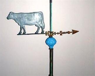 Cow Weathervane Lightning Rod