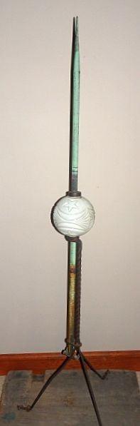 Weathervane Lightning Rod W/Ball