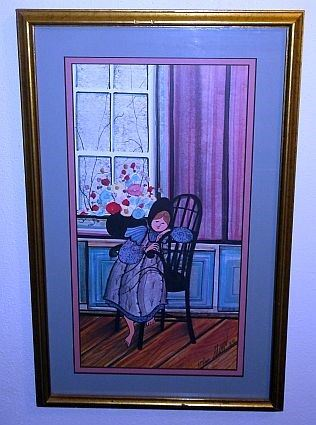 """P. Buckley Moss """"Pensive Moments"""" Framed Print,  Artist Signed & Numbered"""