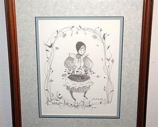 """P. Buckley Moss """"Pat's Friends"""" Framed Print"""