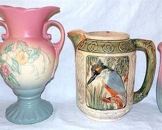 Louwelsa Weller, Hull Art Pottery, Weller King Fisher Pitcher