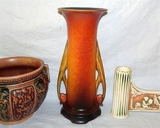 Roseville Pottery Pinecone, Donatello & Florentine
