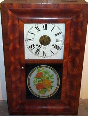 OGee Weight Clock W/ Reverse Painting