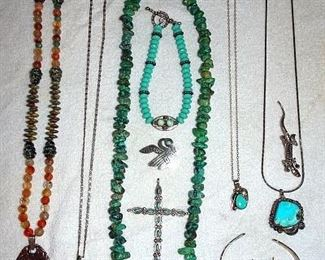 Sterling, Turquoise, Indian Jewelry
