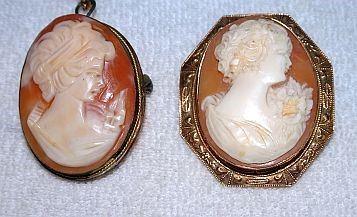 Antique Cameo Pins & Pendant