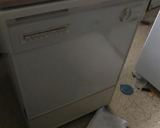 Portable dishwasher with butcher block top