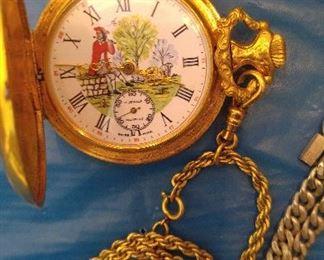 Interesting hunter's watch