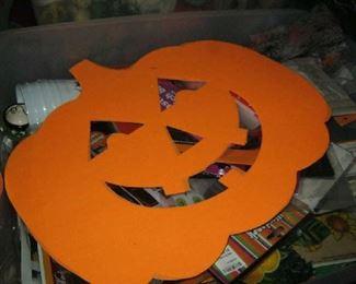 Tons of Halloween decor