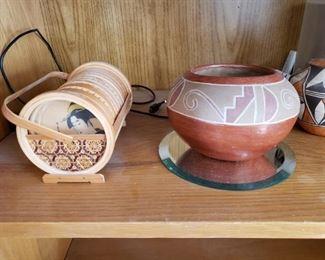geisha coaster set and native art