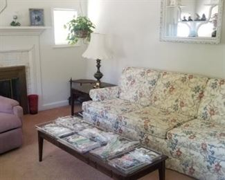 Beautiful clean sofa with matching chair and very clean recliner