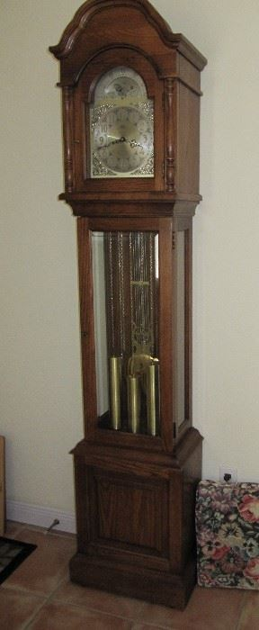 grandfather clock recently serviced
