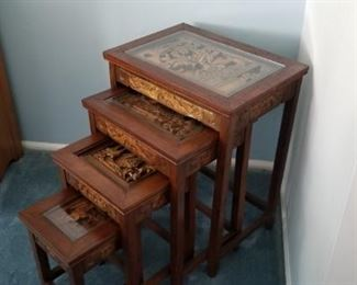 oriental uniquely designed tables that stack