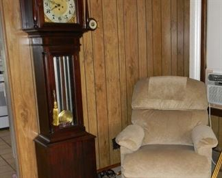 """BUY IT NOW $1295.00 - 1800's 8"""" German Grandfather's Clock """"Unghans J B08""""  Recliner BUY IT NOW $40.00"""