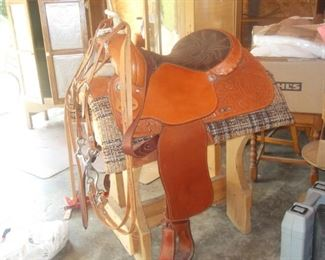 includes stand, bridle, and blanket