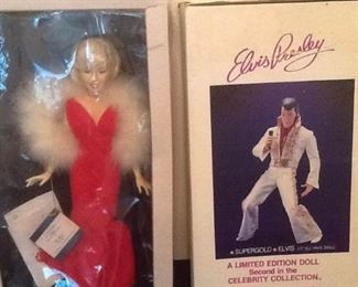 Elvis Presley Supergold and One Year Only Edition Marilyn World Doll