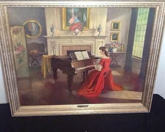 Sonata Print by M Ditlef Signed